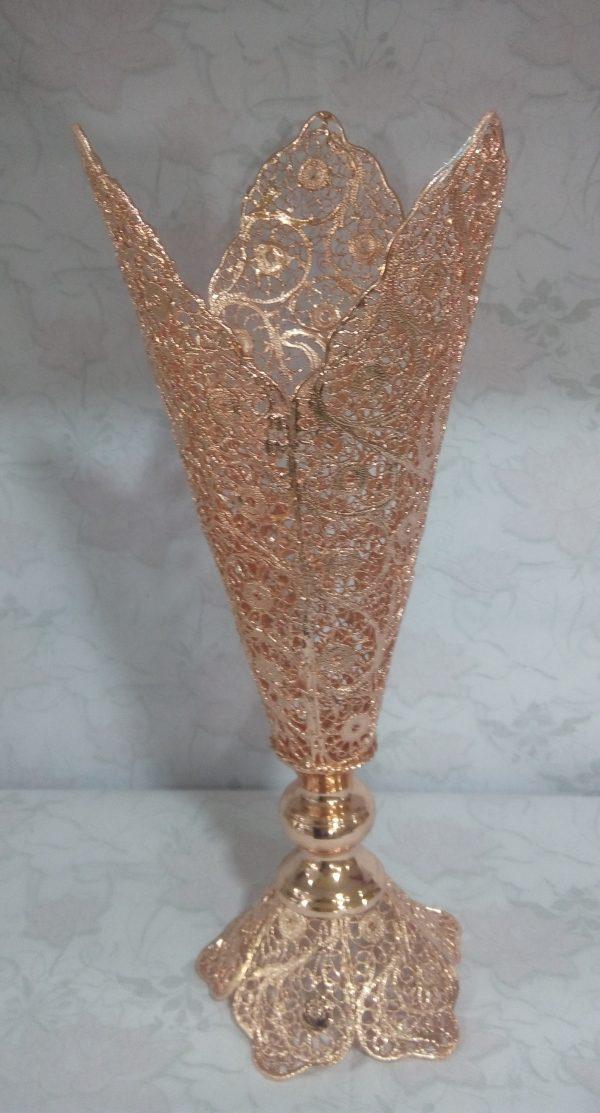 گلدان ملیله مسی