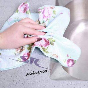 دستمال آشپزخانه گل گلی