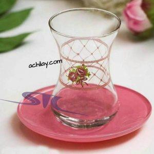 فنجان نعلبکی رنگی