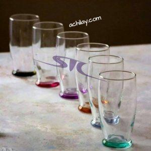 لیوان کف رنگی