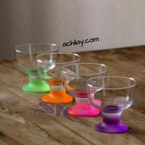 ظرف دسرخوری پایه رنگی